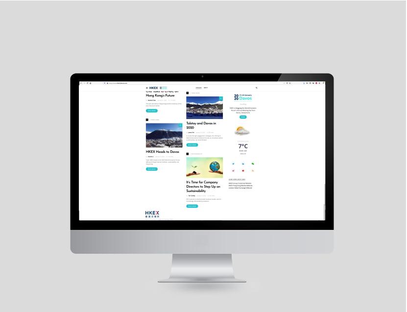 Website. Homepage